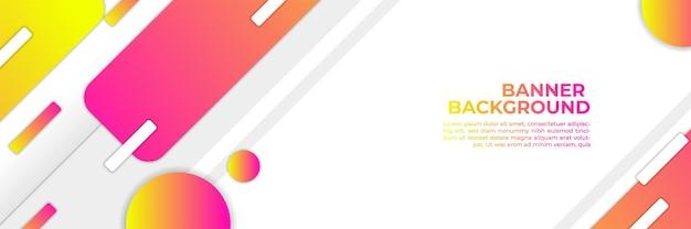 Streszczenie nowoczesny transparent tło kolor gradientu. żółty i różowy gradient z dekoracją półtonową.
