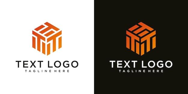 Streszczenie nowoczesny znak litery t luksusowy szablon projektu logo
