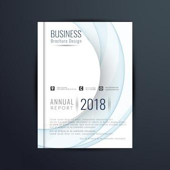 Streszczenie nowoczesnych faliste biznesu broszur?