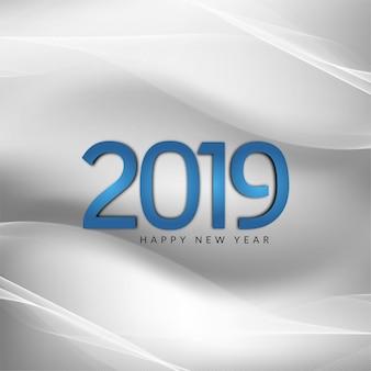 Streszczenie nowy rok 2019 piękny szary tło faliste