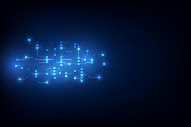 Streszczenie obwodu sieci blockchain koncepcja tło