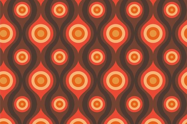 Streszczenie oczy groovy geometryczny wzór
