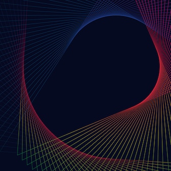 Streszczenie okrągły element geometryczny
