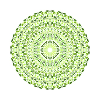 Streszczenie okrągły kolorowy okrągły kamień ornament mandala