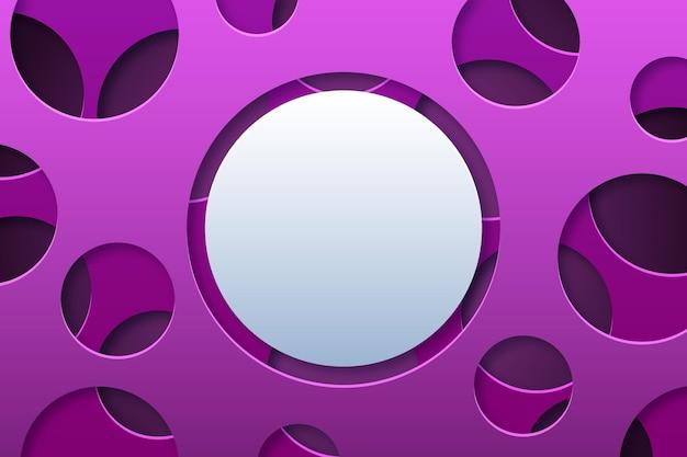 Streszczenie okrągły kształt papieru w stylu