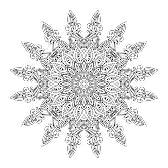 Streszczenie okrągły projekt mandali koronki, element dekoracyjny