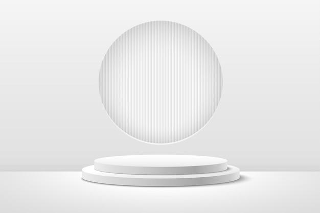 Streszczenie okrągły wyświetlacz do prezentacji produktu