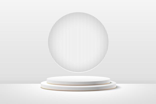 Streszczenie okrągły wyświetlacz produktu