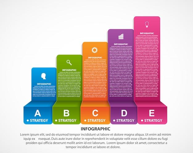 Streszczenie opcje infografiki szablon.