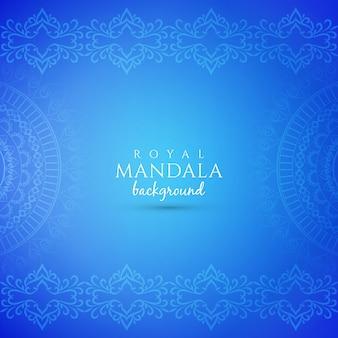 Streszczenie ozdobny luksusowy mandali niebieskie tło