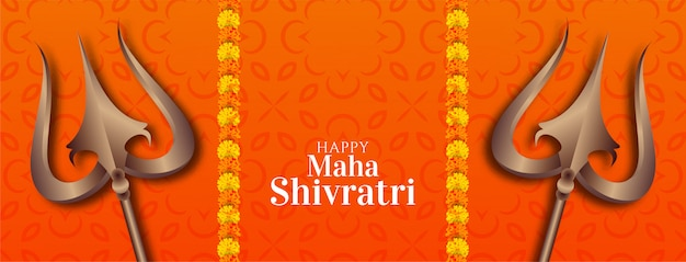 Streszczenie ozdobny transparent maha shivratri