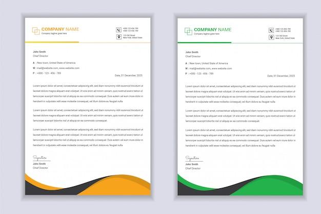 Streszczenie papier firmowy nowoczesny szablon biznes papier firmowy szablon projektu
