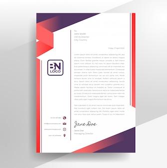 Streszczenie papier firmowy zaprojektuj szablon papier firmowy