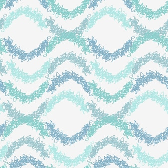 Streszczenie pastelowe niebieskie półkola kręcone fale wzór