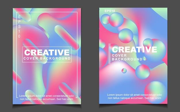 Streszczenie pastelowy kolorowy gradientowy projekt okładki