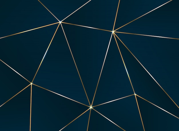 Streszczenie pięciokątne wzór z wzór luksus złoty linii.