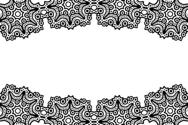 Streszczenie piękne czarne tło wektor plemienny z białą przestrzenią kopii