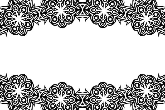 Streszczenie piękne monochromatyczne tło wektor plemienny z białą przestrzenią kopii