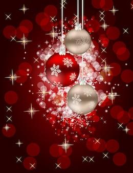 Streszczenie piękno boże narodzenie i nowy rok tło wektor ilustracja