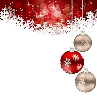 Streszczenie piękno boże narodzenie i nowy rok w tle