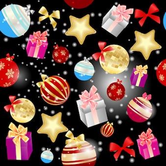 Streszczenie piękno boże narodzenie i nowy rok wzór backgrou