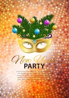 Streszczenie piękno wesołych świąt i nowego roku party tło wi