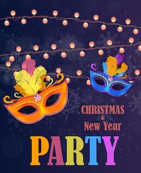 Streszczenie piękno wesołych świąt i nowego roku tło strony