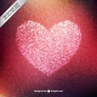 Streszczenie pixeled tło serca