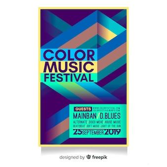 Streszczenie plakat festiwal muzyczny szablon