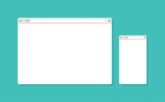 Streszczenie płaska konstrukcja szablonu przeglądarki internetowej