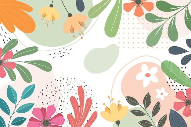Streszczenie płaskie tło kwiatowy