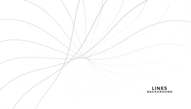 Streszczenie płynące czarne linie na białym tle