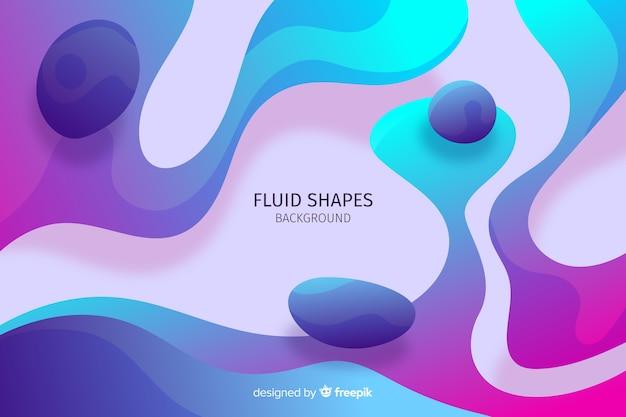 Streszczenie płynne kształty tła