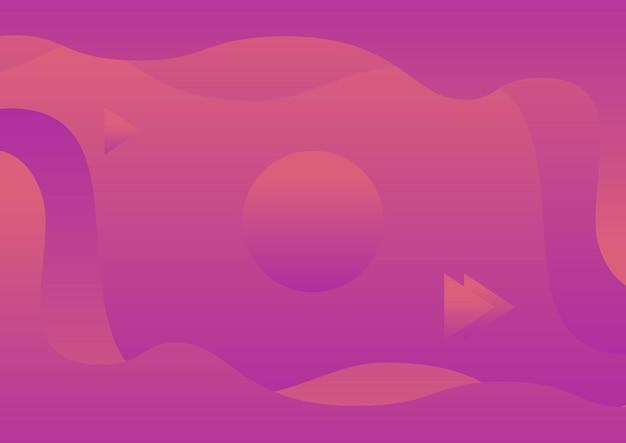 Streszczenie płynne światło czerwone, fioletowe tło gradientowe plakat