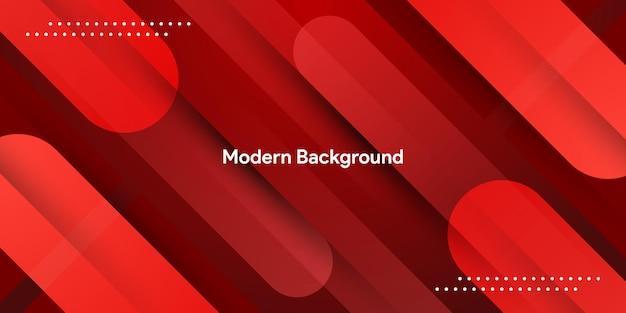 Streszczenie płynny czerwony geometryczny z kolorowym tłem gradientowym