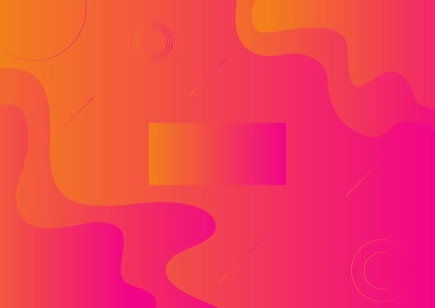Streszczenie płynny pomarańczowy, różowy plakat w tle gradientu