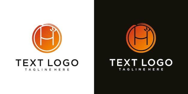 Streszczenie początkowej litery h minimalny szablon projektu logo