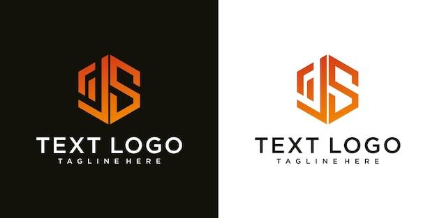 Streszczenie początkowej litery js js minimalny szablon projektu logo