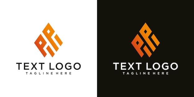 Streszczenie początkowej litery pp minimalny szablon projektu logo