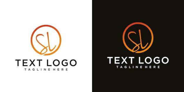 Streszczenie początkowej litery sl sl minimalny szablon projektu logo
