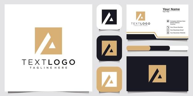 Streszczenie początkowej litery szablon projektu logo i wizytówka