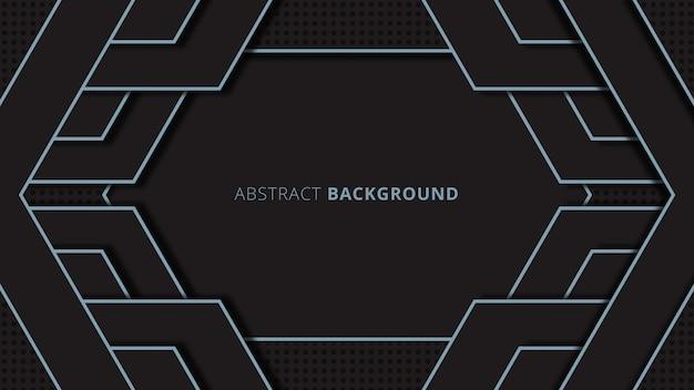 Streszczenie pokrywają się geometryczny kształt tła z czarnym motywem