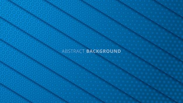 Streszczenie pokrywają się geometryczny kształt tła z niebieskim detalem węgla