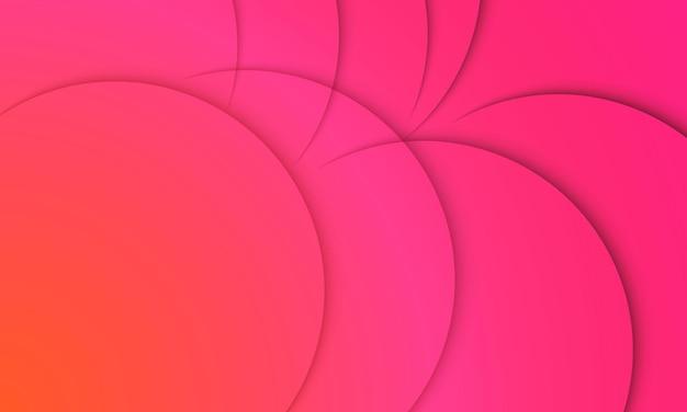 Streszczenie pomarańczowy i różowy gradient z cieniem. inteligentny projekt reklamy biznesowej.