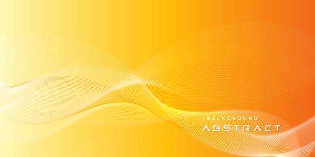 Streszczenie pomarańczowy nowoczesne linie gradientu tła