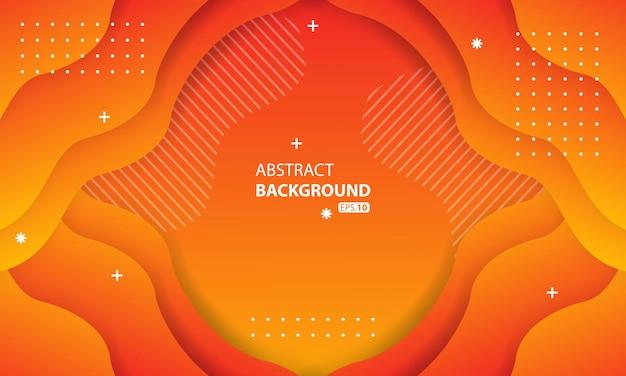 Streszczenie pomarańczowy płynny kolor tła. faliste tło geometryczne. dynamiczny teksturowany element geometryczny design09