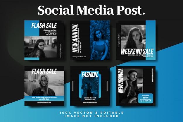 Streszczenie post sprzedaż moda instagram zestaw