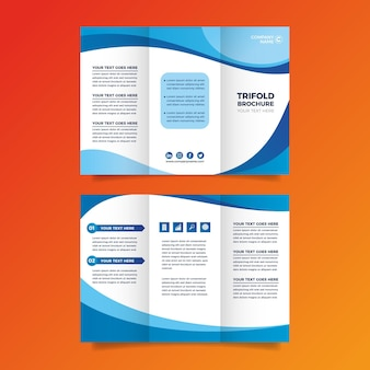 Streszczenie potrójne broszura szablon tematu