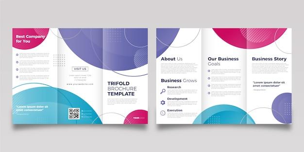 Streszczenie potrójne broszura szablon ze zdjęciem
