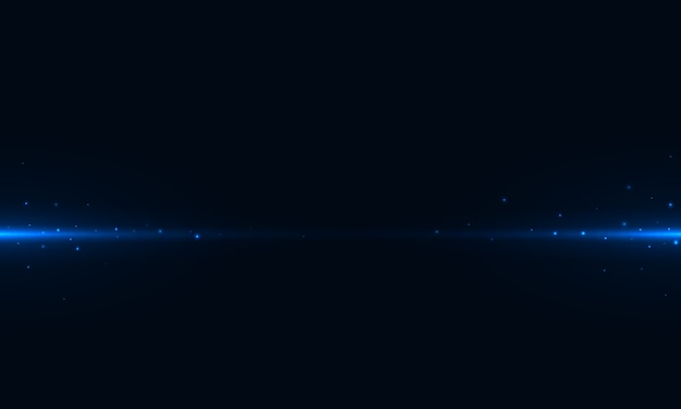 Streszczenie poziome niebieski świeckich i blask na ciemnym tle wykorzystania do prezentacji, plakatu lub strony docelowej